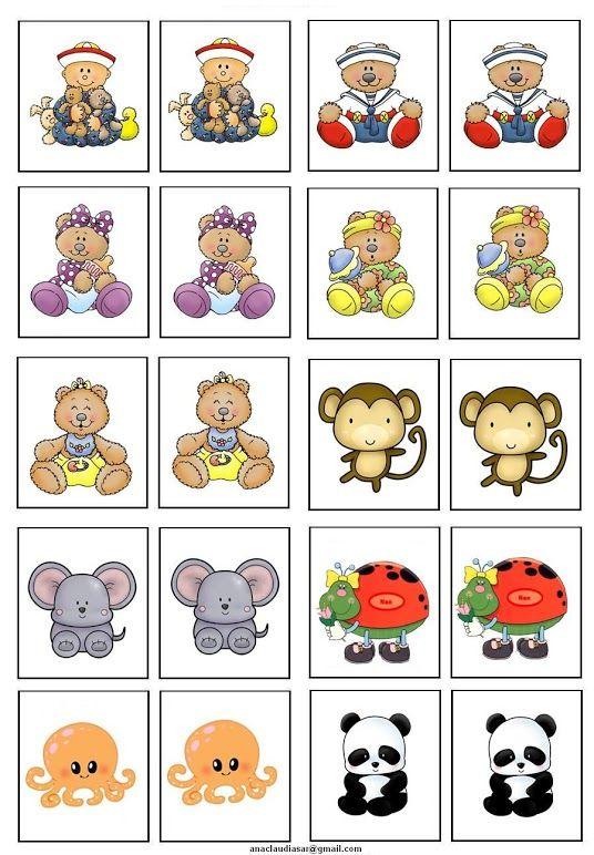 Memory B1 Memorama De Animales Loterias Para Niños Juegos De Memoria