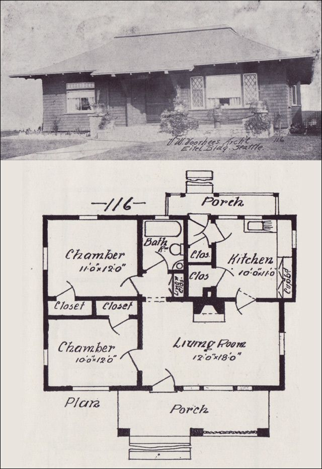 attractive western home plans #6: 1908 Western Home Builder - No. 116
