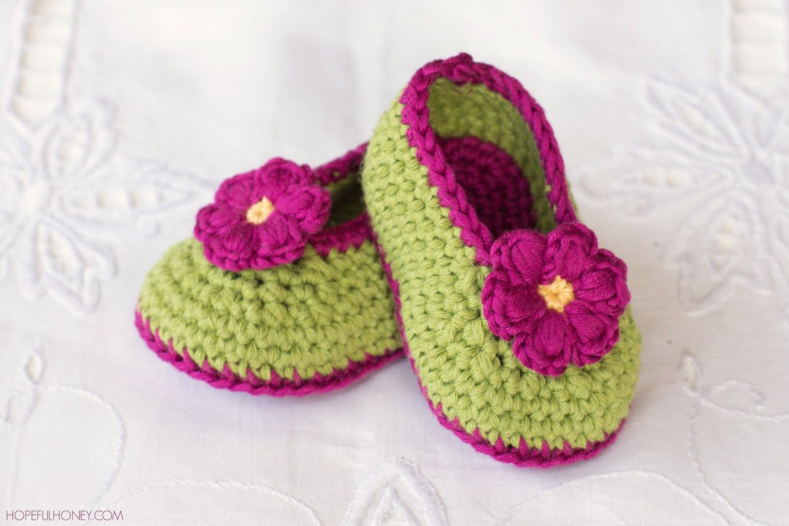Fairy Blossom Baby Booties - Free Crochet Pattern | Baby booties ...