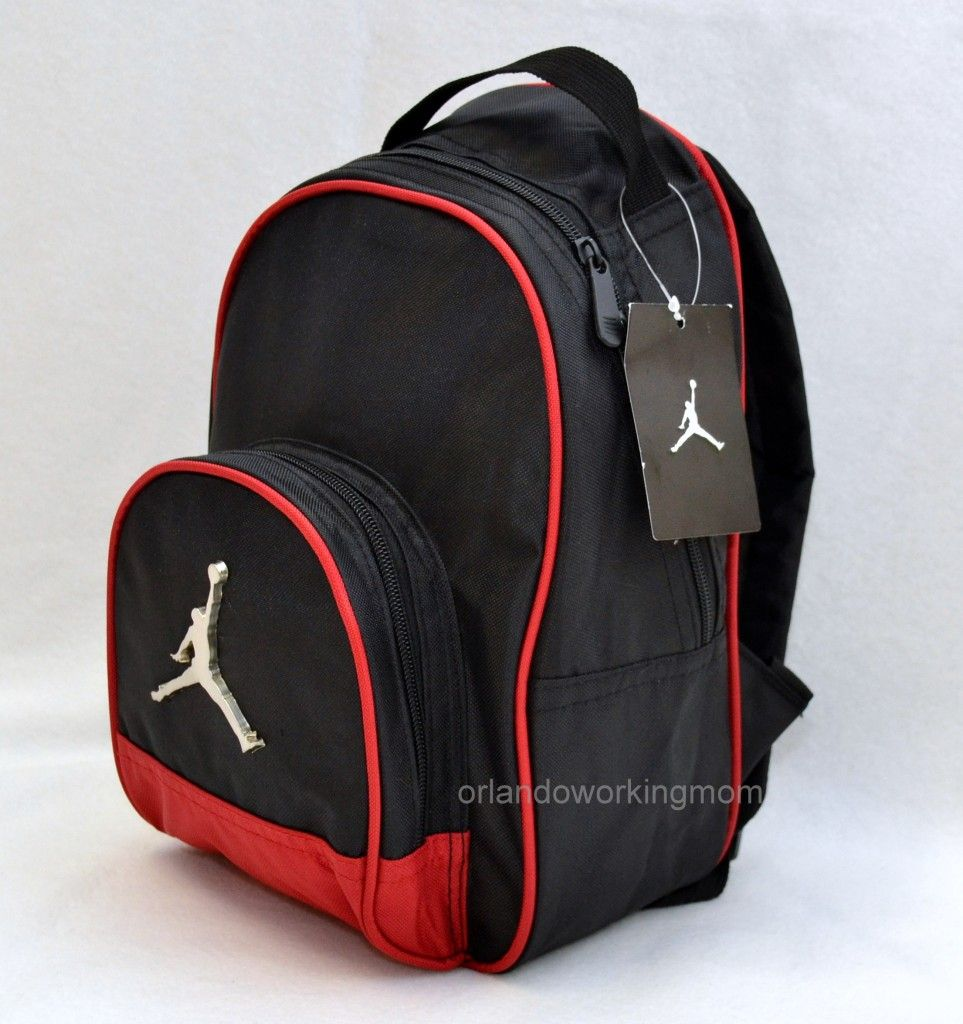 Nike Air Jordan Black and Red Small   Mini Backpack for Preschool   Toddler  boys ab0532352f99c