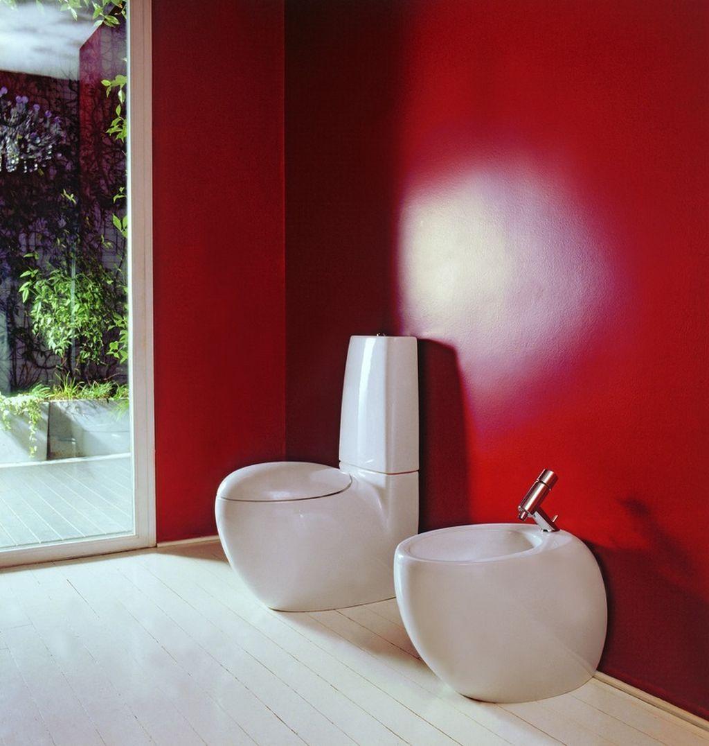 Tolle Rot Badezimmer Mobel Von Artesi Mit Wasser Schrank Weiss
