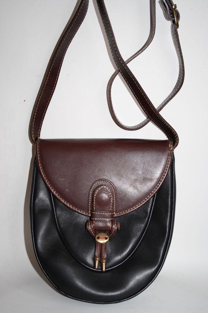 Vintage Pierre Cardin Paris Designer Woman s Handbag Cowhide Leather Bag  Black