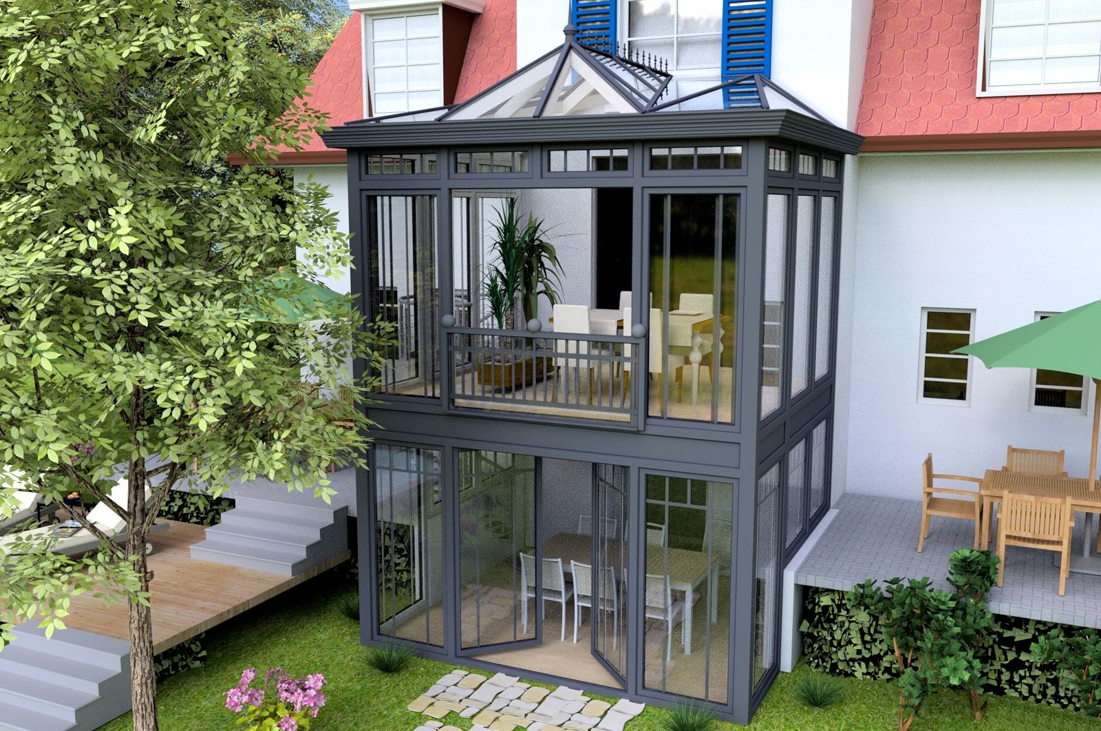 Das w re der absolute idealfall - Extension maison verriere ...