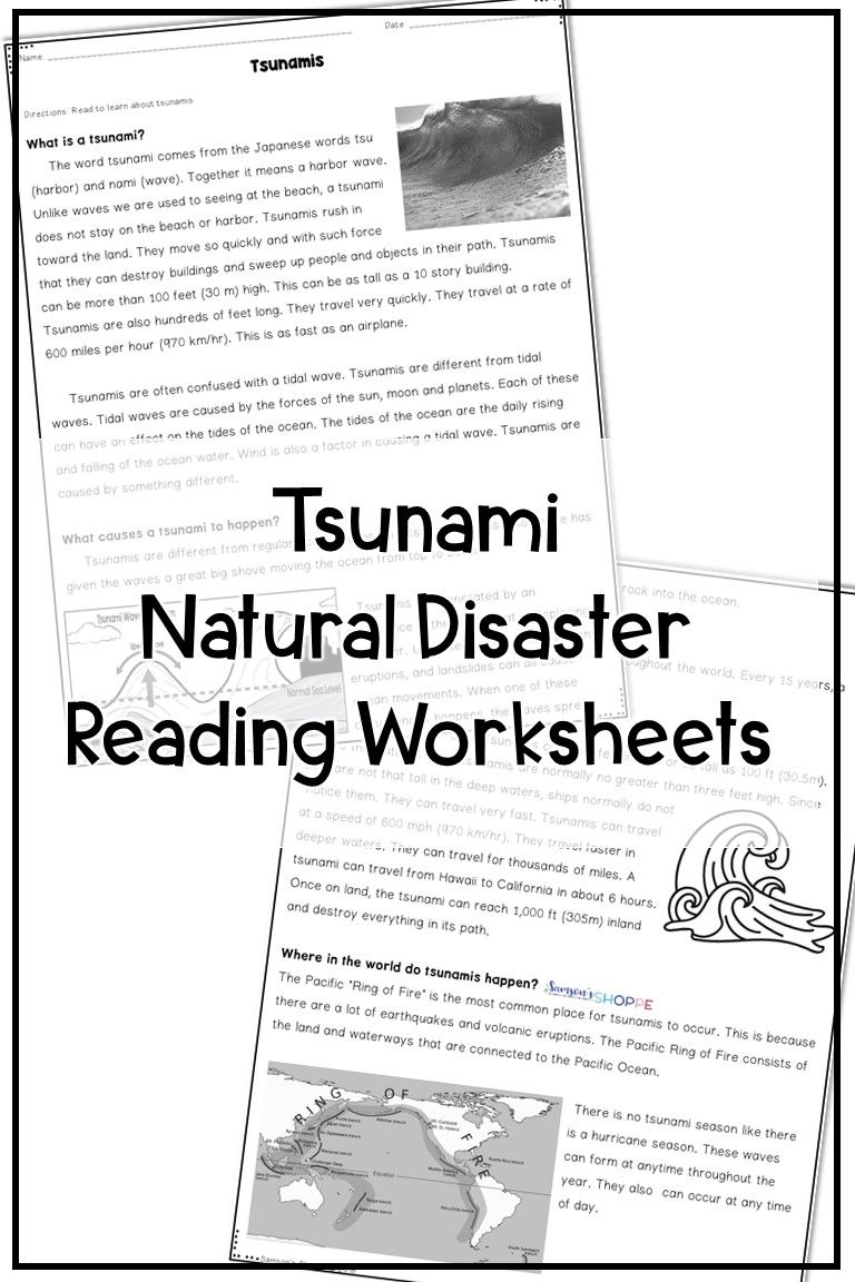 Tsunami For Kids Earth Science Upper Elementary Resources Science Worksheets [ 1152 x 768 Pixel ]