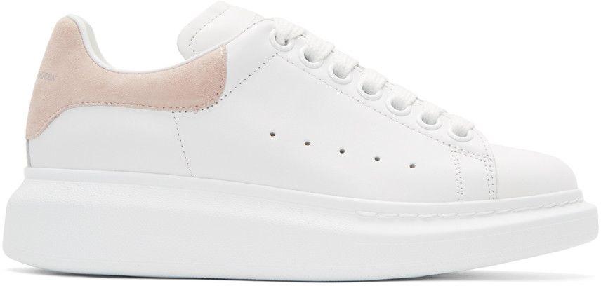9562292f3d87 ALEXANDER MCQUEEN White   Pink Oversized Sneakers.  alexandermcqueen  shoes   sneakers