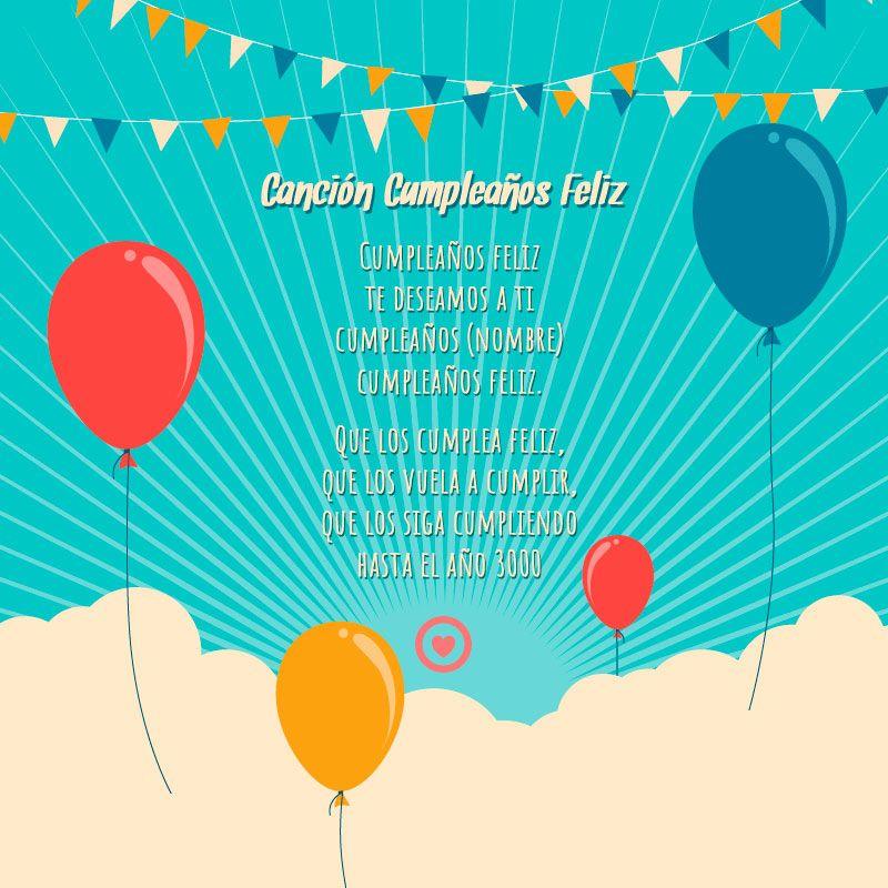 Letra De La Cancion Cumpleaños Feliz Canciones De Feliz Cumpleaños Feliz Cumpleaños Feliz Cumpleaños Letra