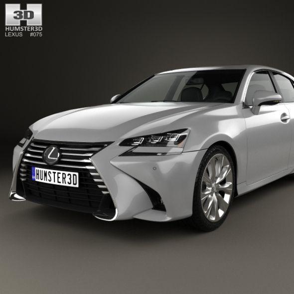 Lexus Gs F Sport 2015 3d Model: Lexus, Car, Sports