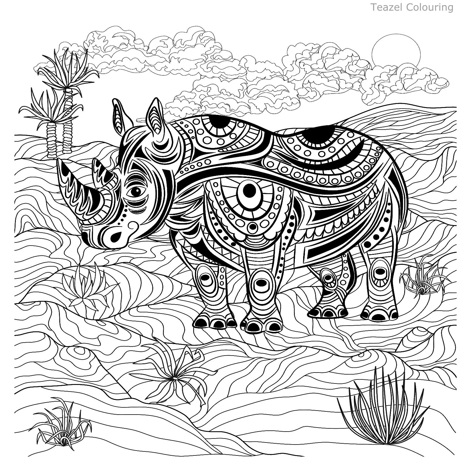 Pin By Barbara On Save The Rhinos Animal Coloring Pages Horse Coloring Pages Coloring Pages [ 1636 x 1636 Pixel ]