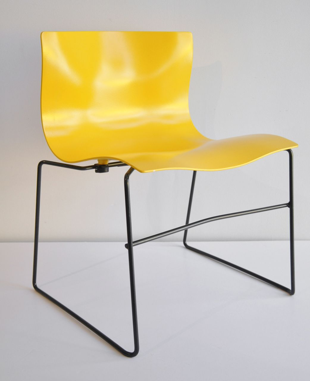 Massimo And Lella Vignelli; Molded Fiberglass And Enameled Metal U0027  Handkerchiefu0027 Stacking Chair For Knoll, 1985.