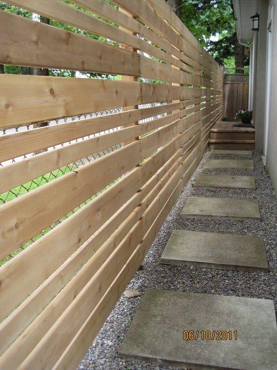 40 μοναδικές ιδέες με φράχτες Toftiaxa Gr Backyard Fences Privacy Fence Landscaping Fence Design