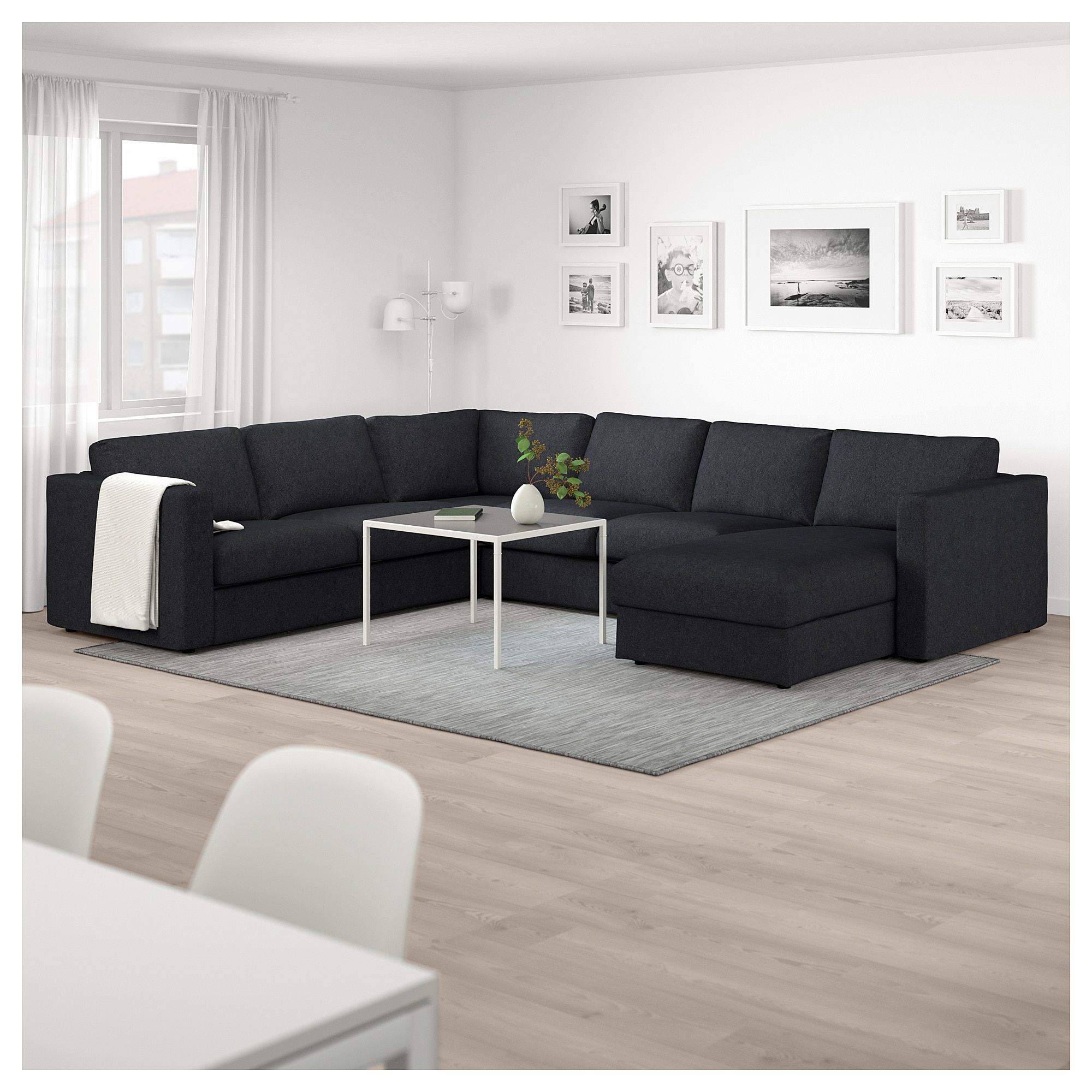 Ikea Beine Sofa Vimle Sectional 5 Seat Corner With Chaise Tallmyra Black Gray
