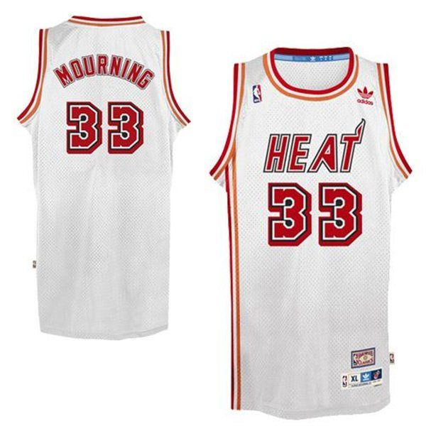 e46311cdab6 ... wholesale adidas nba miami heat 33 alonzo mourning soul throwback  swingman home white jersey 7c0ea c5dc3