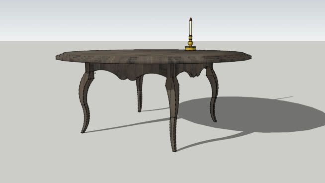 Swedish Rococo Table, ca 1760 - 3D Warehouse 3D Dining Tables