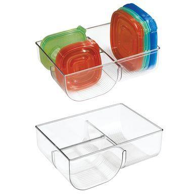 Mdesign Plastic Kitchen Food Container Lid Organizer Bin