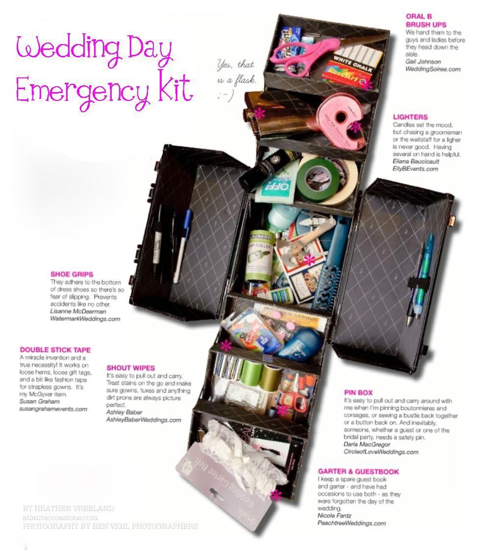 Wedding Day Emergency Kit Bridal Emergency Kits Wedding Kit Wedding Emergency Kit