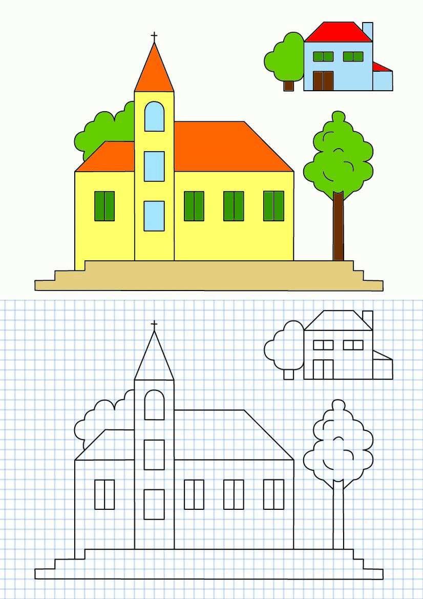 Très Cornicette per bambini - Cornicette per bambini a quadretti Chiesa  ZT25