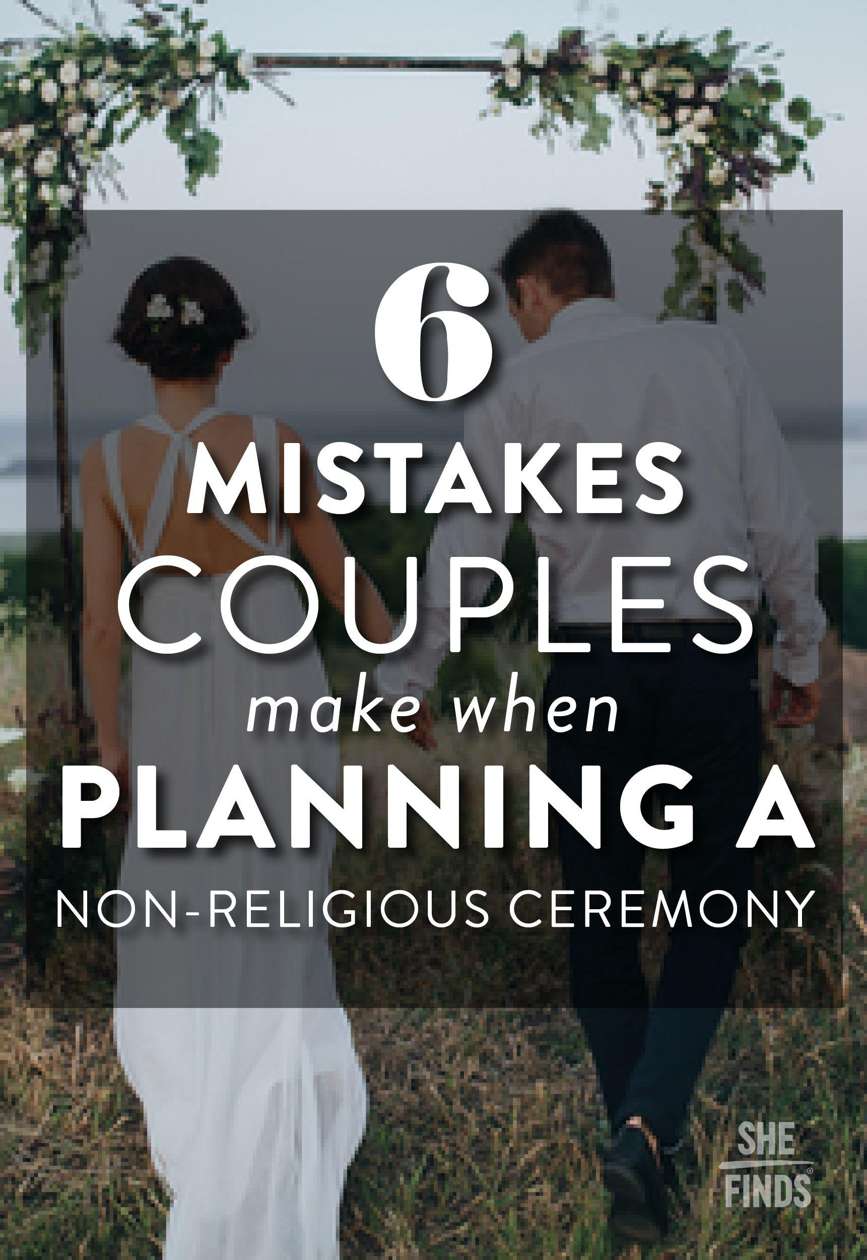 how to plan a non religious wedding