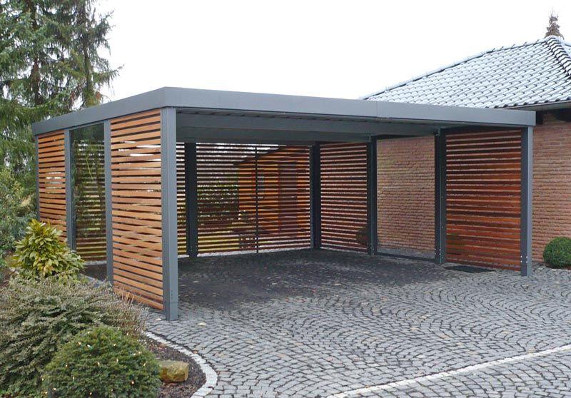 Carport aus Metall mit Flachdach Carport modern, Carport