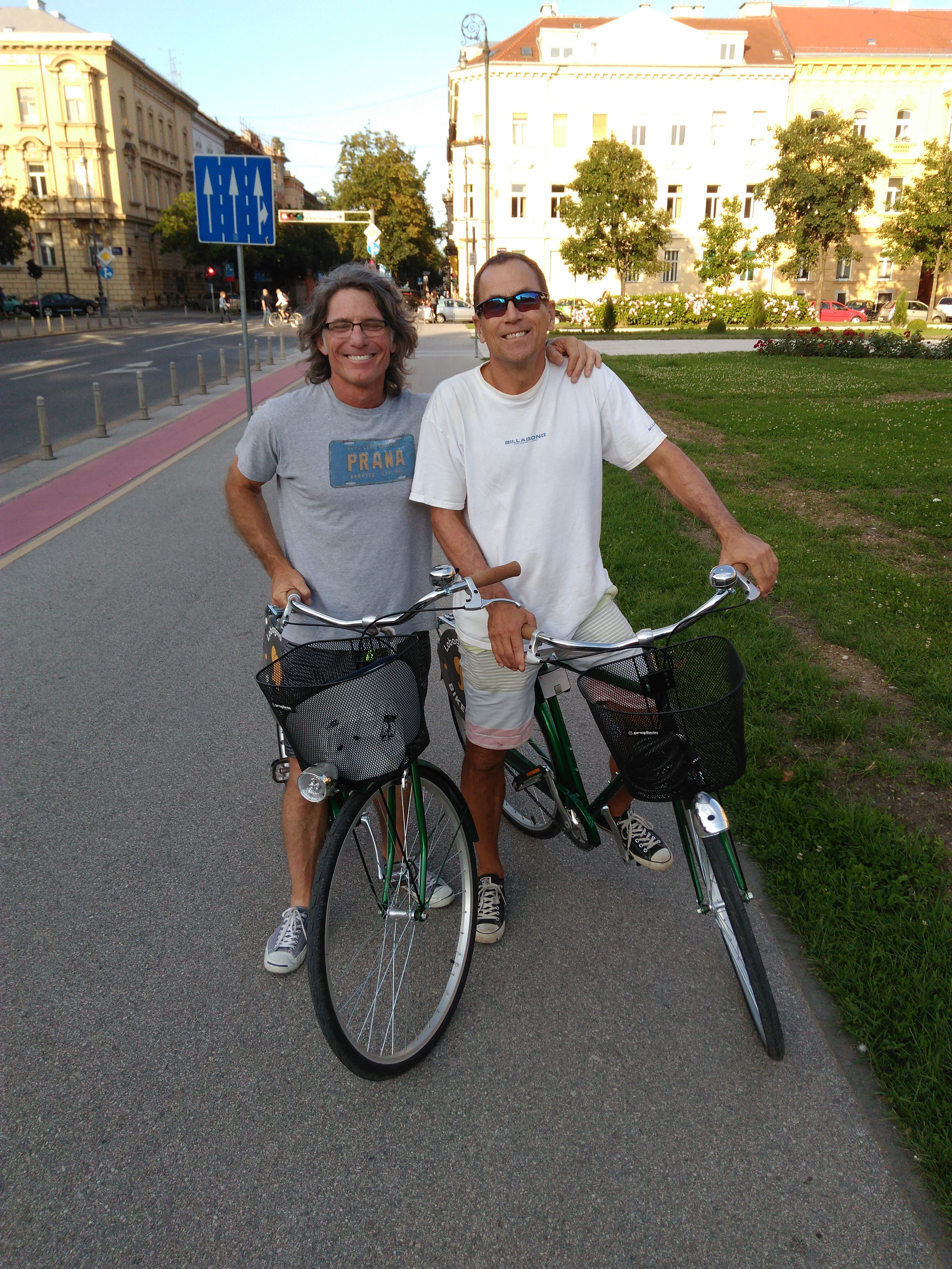 Tim and Gene joined us on our Daily tour around Zagreb. In a few hours of exciting pedaling they saw and learned everything important about our city #lobagolabnb #zagreb #croatia #bike #tours #lobagolaadventure #bicycle #cycling #yellowelephant #1city2wheels #bikeZg #lobagolatours