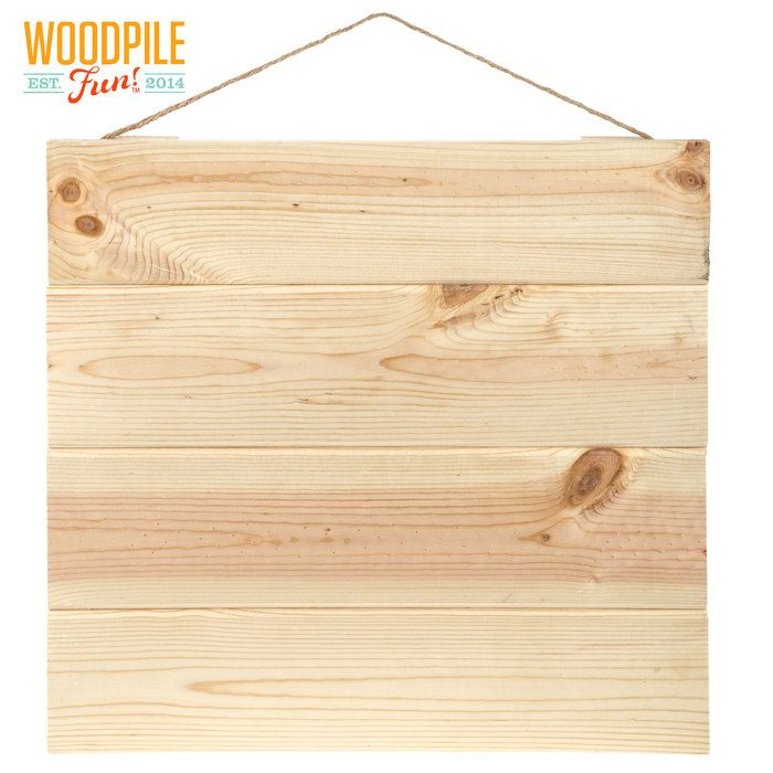 Square Pallet Natural Wood Wall Decor | Craft supplies | Pinterest ...