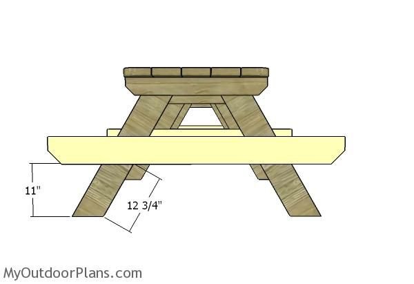 10 Foot Picnic Table Plans Myoutdoorplans Free Woodworking Plans And Projects Diy Shed Wooden Playhouse Picnic Table Plans Diy Picnic Table Picnic Table