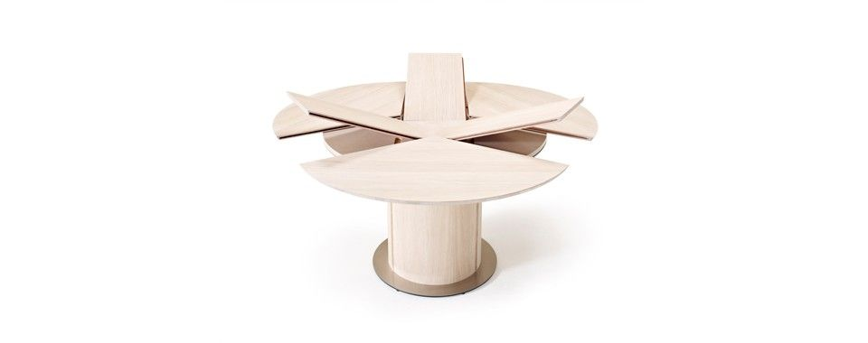 Patented Skovby Dining Table With Steel Base Plate And A Unique Extension System
