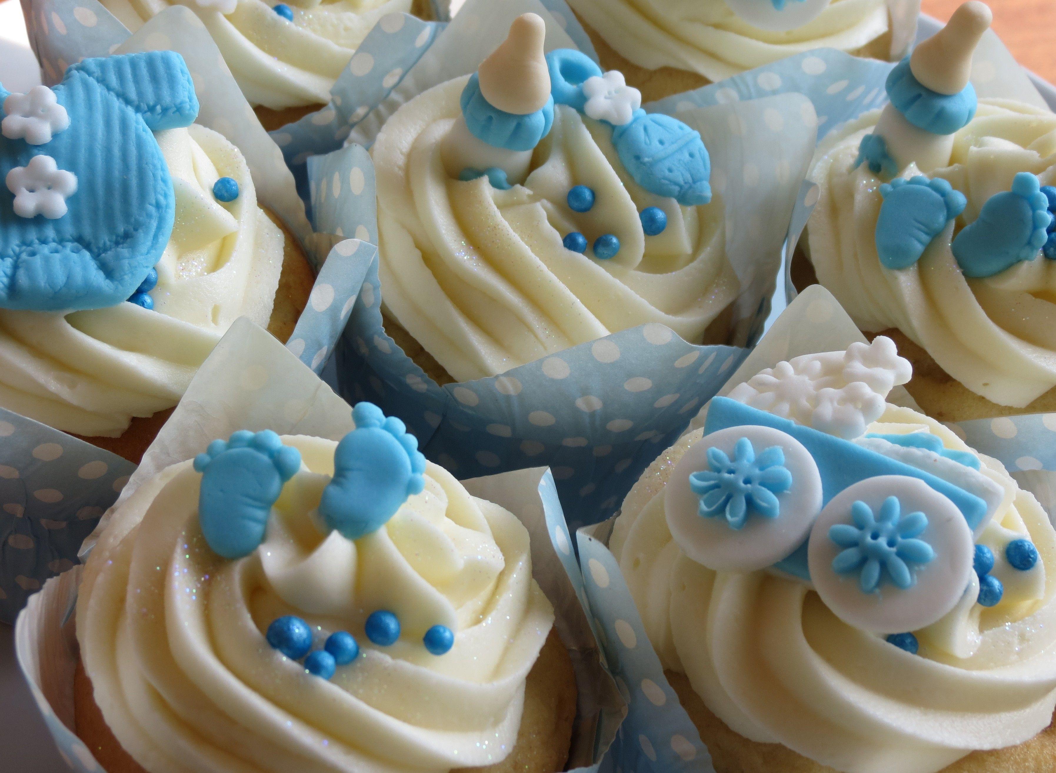 Baby shower boy cupcakes recipesdesserts pinterest