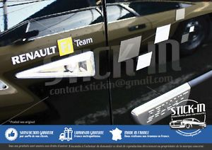 Renault Clio 4 RS EDC TROPHY 220 Stickers Autocollants Portes Doors Decals Rear