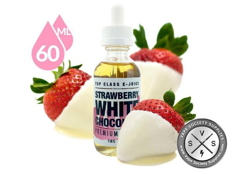 Strawberry White Chocolate Ejuice by Top Class E-Juice 60ml