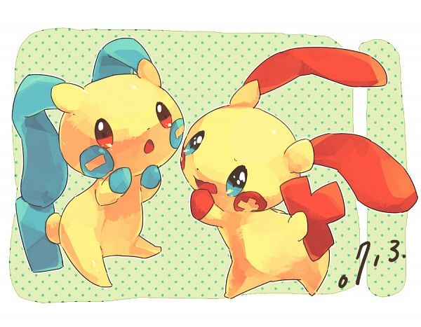 Plusle and Minun ♥