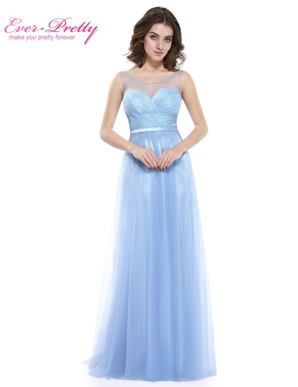 Women's Sexy Ice Blue Prom Dresses Ever Pretty HE08833IB Sexy V ...