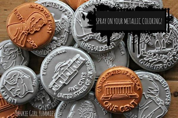 How Did You Make Those Gold Coins Cake Sugar Artstutorials Iced