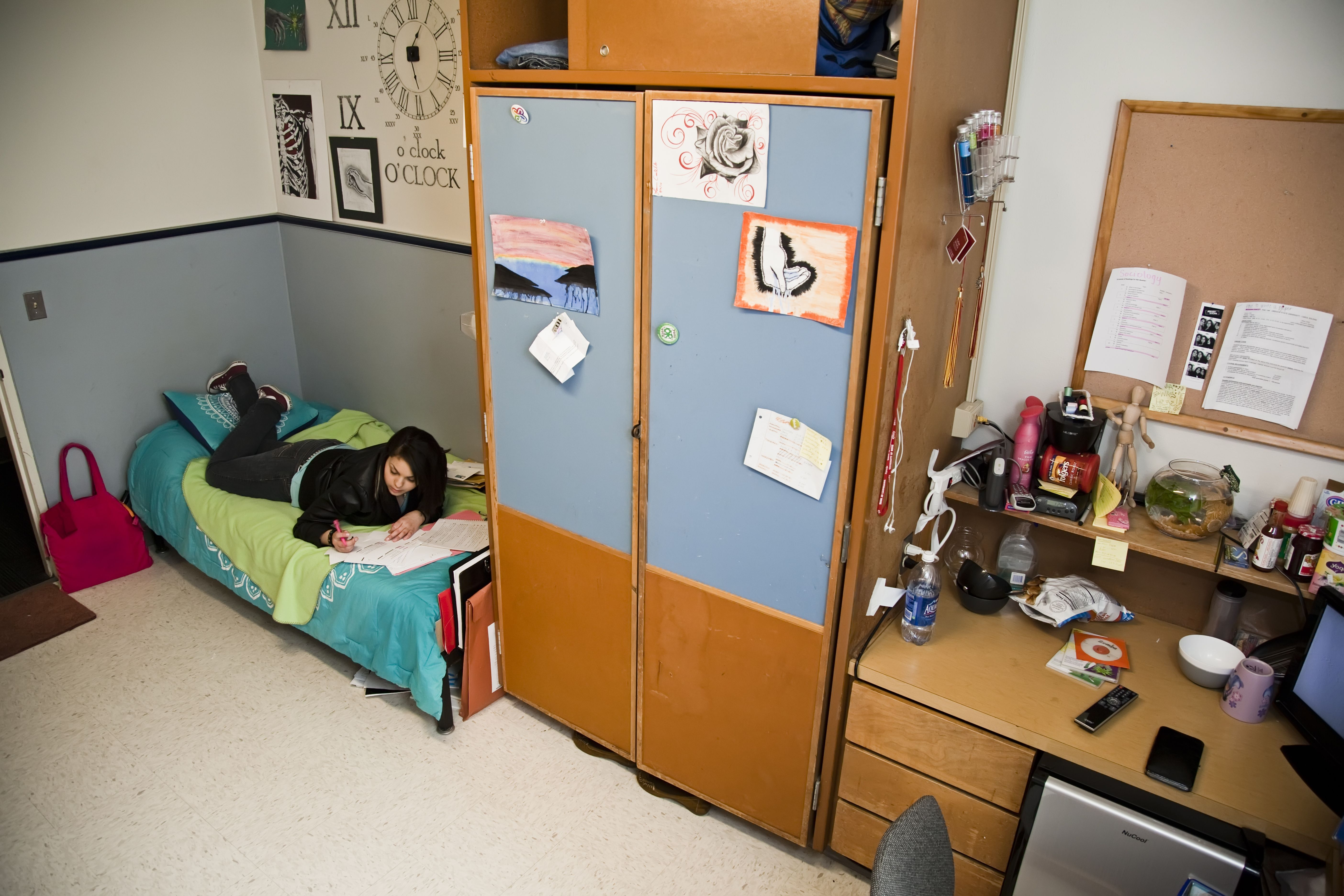 Callahan Hall At Oregon State University, Corvallis, Oregon. Where I Met My  Wife (not This Exact Room). Part 91