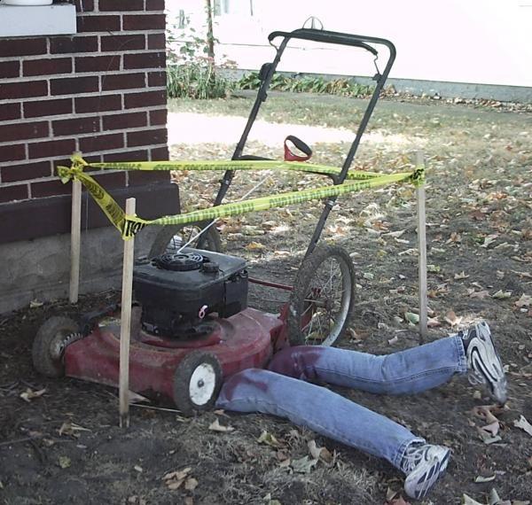Halloween lawnmower victim Halloween Pinterest Halloween ideas - outdoor halloween decorations