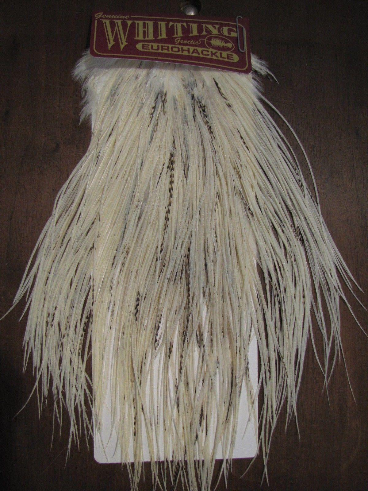 Angelsport-Fliegen-Bindematerialien Angelsport-Artikel Fly Tying Whiting Gold Rooster Saddle White #D