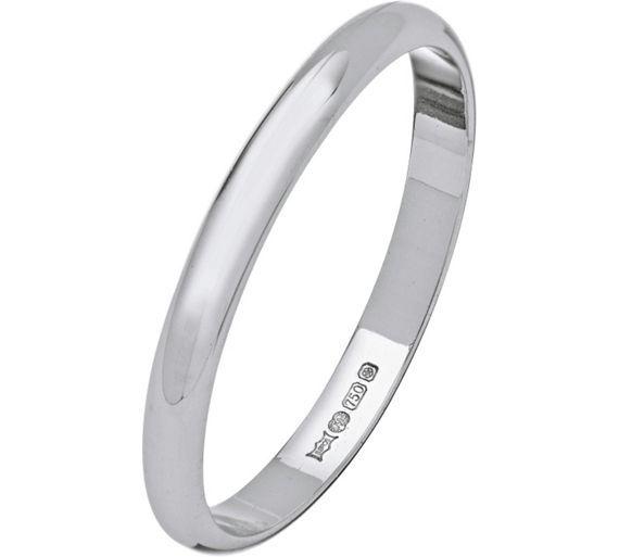 Buy 18ct White Gold D Shape Wedding Ring at Argos visit