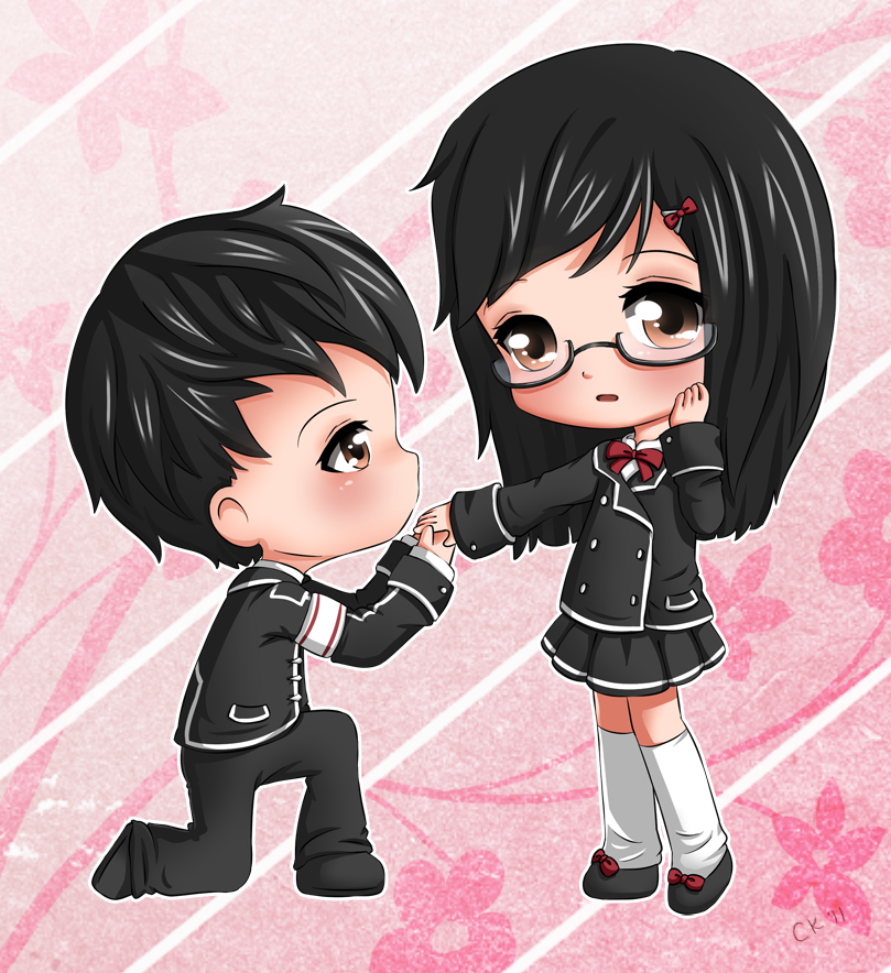 Chibi couple by cupkik on deviantart love this 1 soooo kawaii - Cute anime couple pictures ...