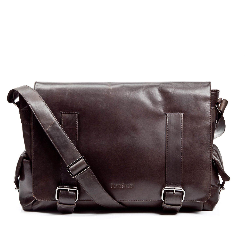 d0b0b1c8234 FEYNSINN grand sac bandoulière ASHTON - sacoche pour ordinateur portable en  cuir - besace homme retro look usé vintage  Amazon.fr  Vêtements et  accessoires