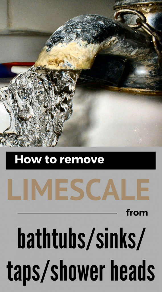 How To Remove Limescale From Bathtubs Sinks Taps And Shower Heads Shower Heads Cleaning Hacks Lime Scale Remover