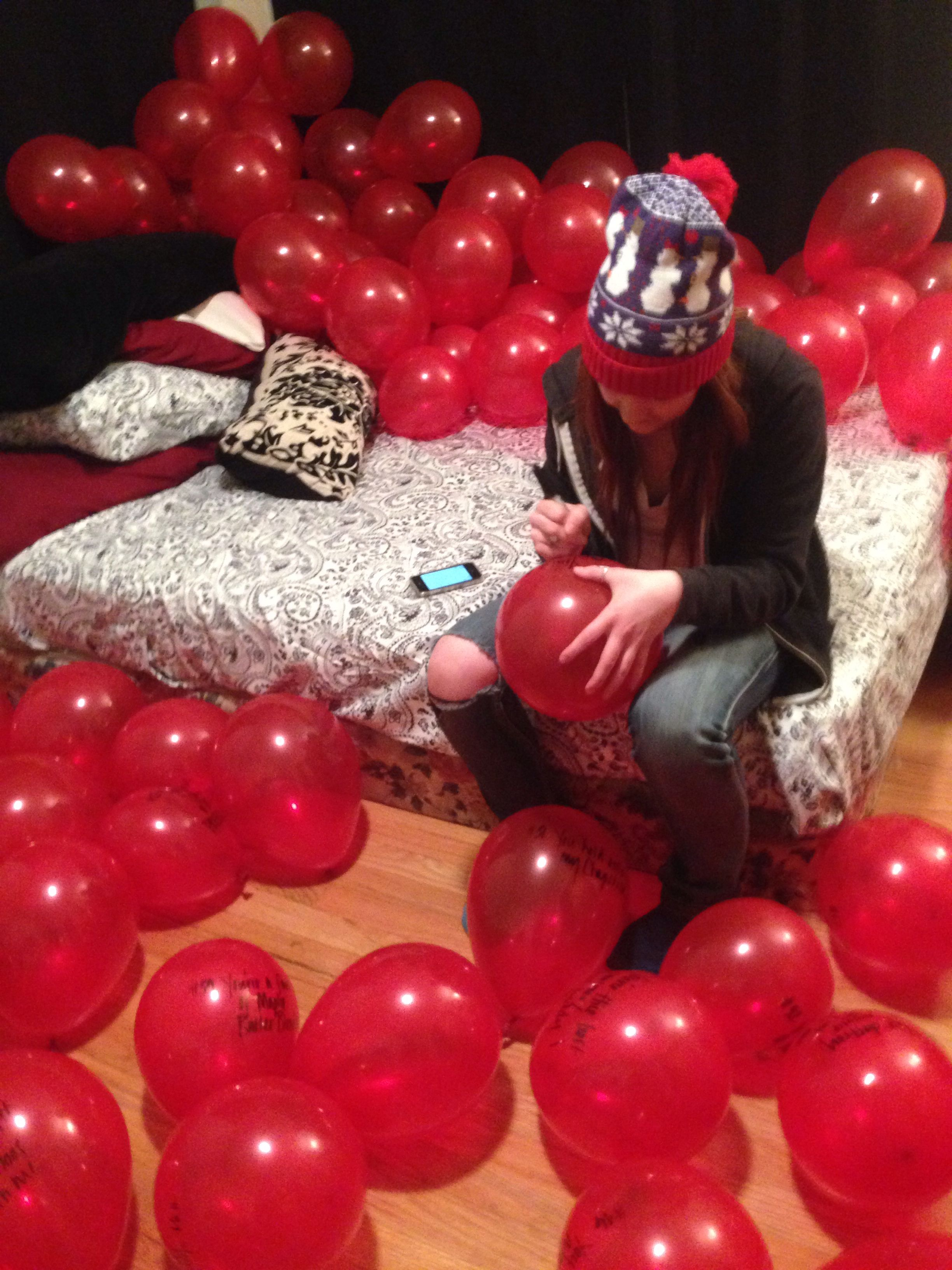 Listening To The Song 99 Red Balloons Then Writing On 99 Red Balloons The Things You Love About Your Partner Red Balloon Bday Party Balloons