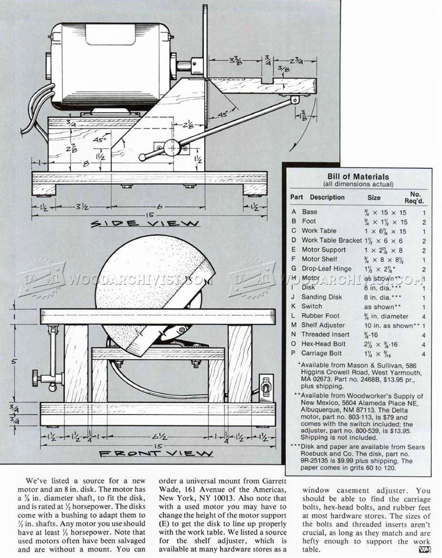 1201 Diy Disk Sander Sanding Tips Jigs And Techniques Menuiserie Bois Menuiserie Bois