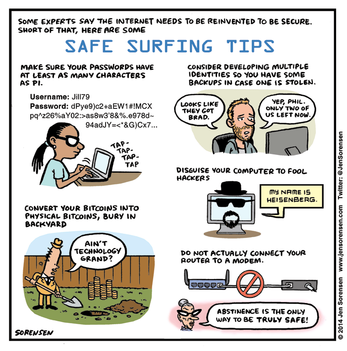 How to Surf the Web Safely Surfing, Surfing tips, Comics