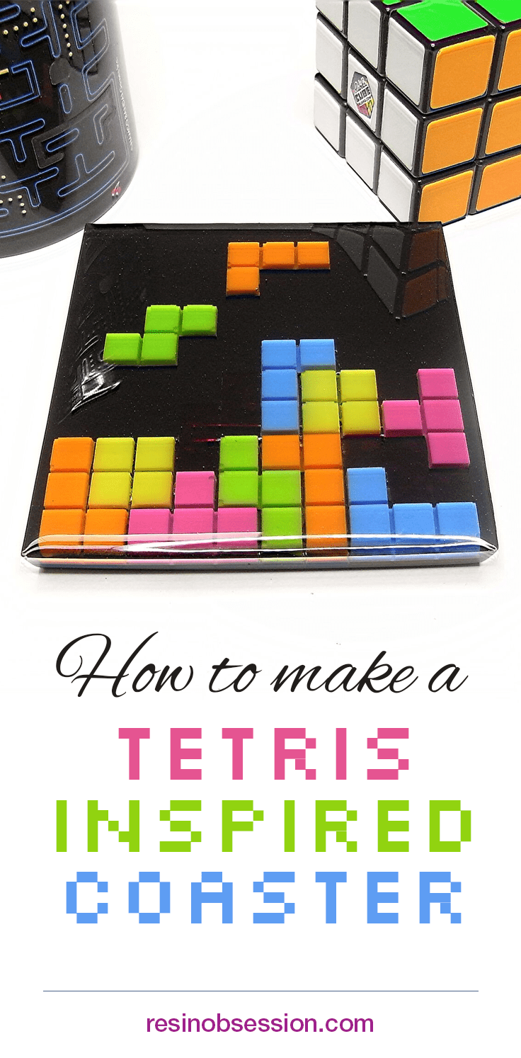 Tetris Coaster DIY | Resin techniques | Diy coasters, Resin, Resin