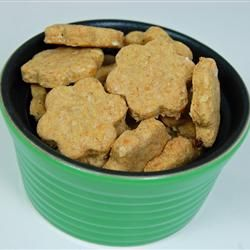 Here is another dog treat recipe for us to try.  The recipe received excellent reviews on allrecipes.com  http://allrecipes.com/recipe/dog-treats-i/detail.aspx