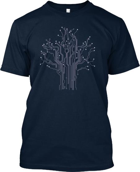 gotham threads new york city clothing circuit tree computerBasic Circuit Tshirts Men39s Tshirt #9