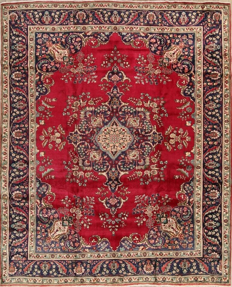 Forsale One Of A Kind Oriental Floral Rugs Hand Knotted Wool Room Size Carpet 10x12 Red Handmade Persian Rugs Rugs Floral Rug
