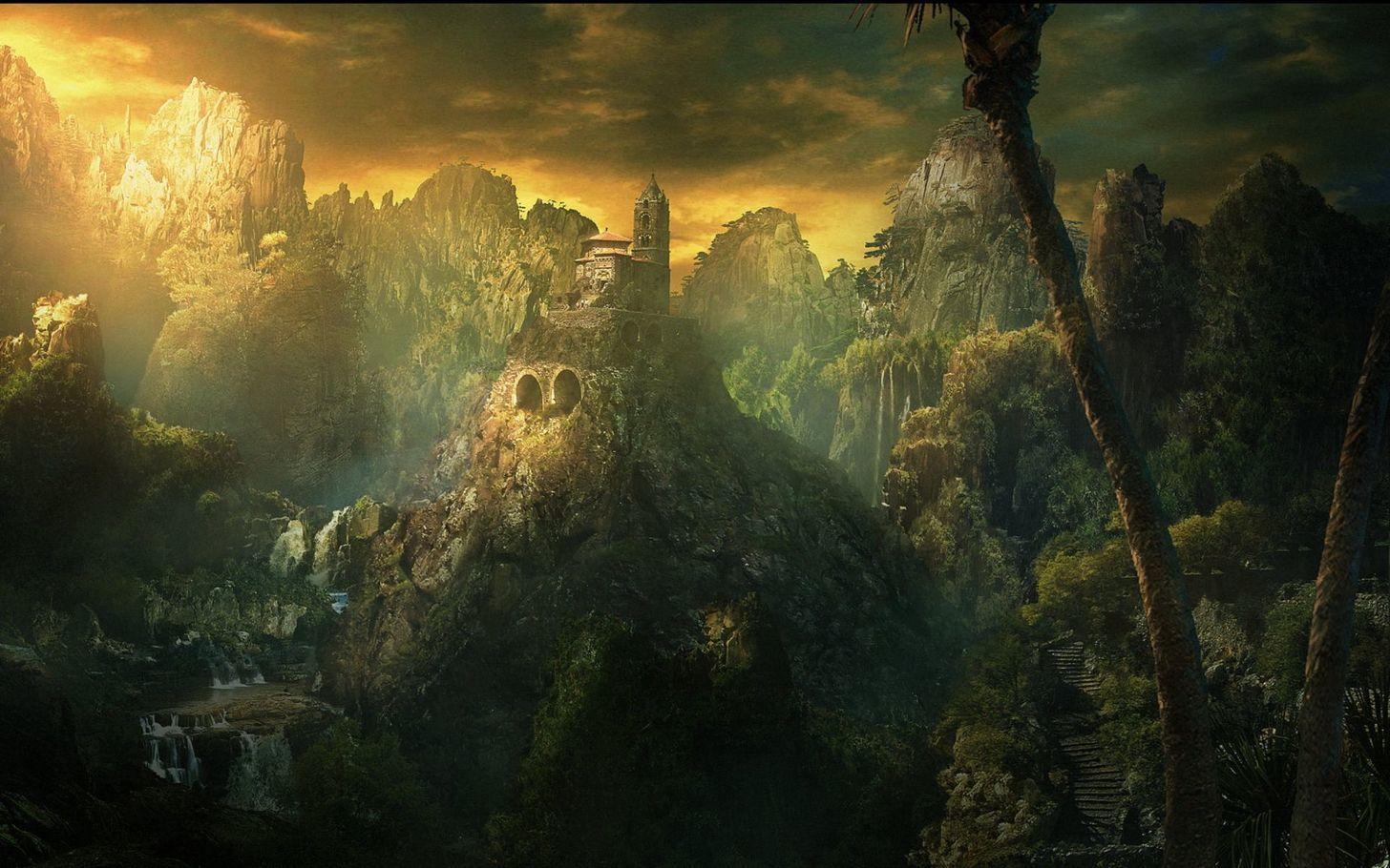 The Fantasy Landscape Collection Part 1 Album On Imgur Fantasy Landscape Fantasy Pictures Landscape Wallpaper