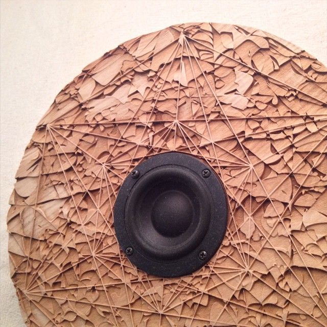 #Geometry #speaker #wooden #sacred #design