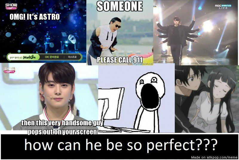 Funny Memes Meme Center : When you're watching astro show champion performance. allkpop meme