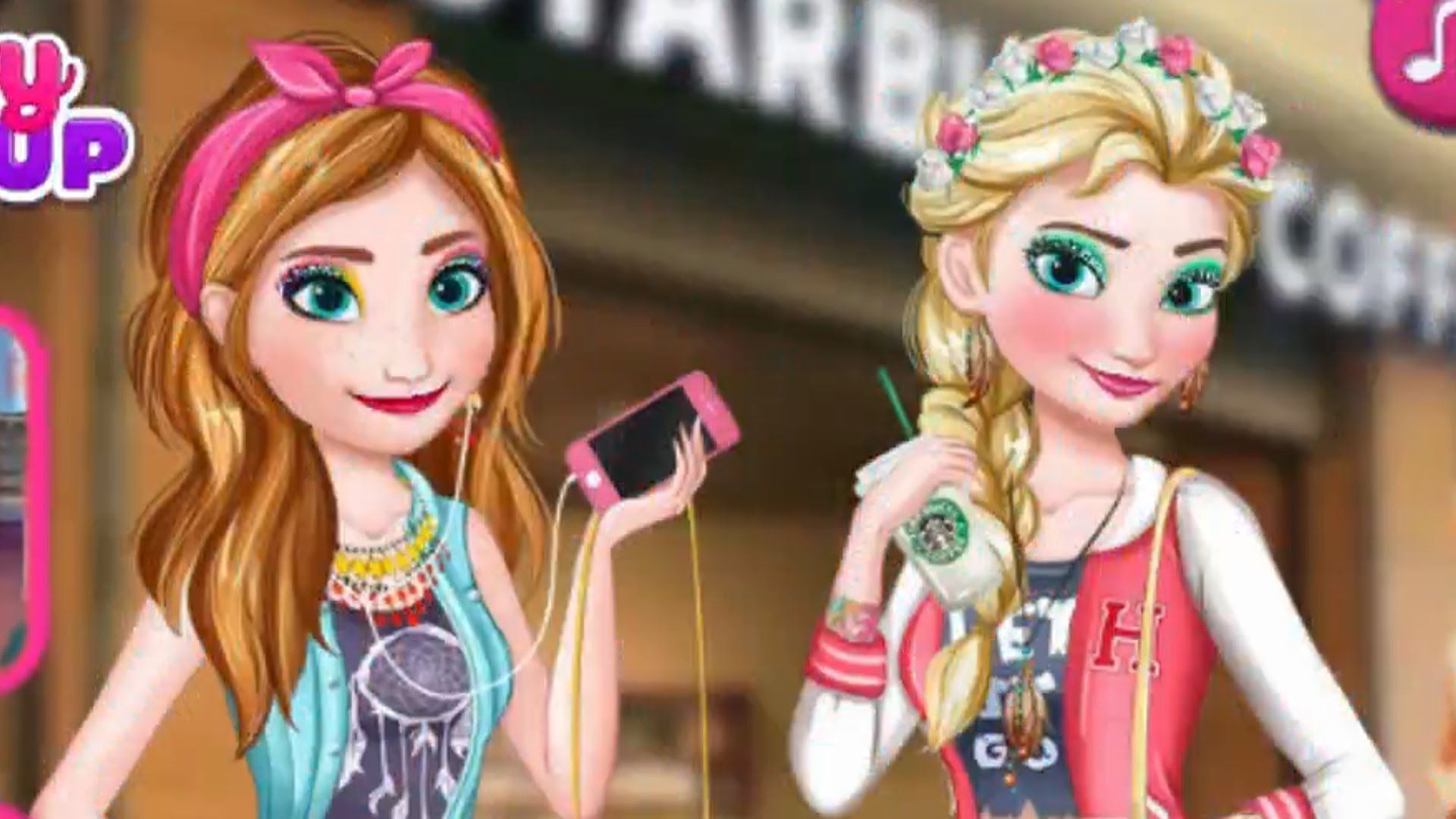 Frozen Elsa and Anna Modern Sisters Makeup Game - Frozen ...